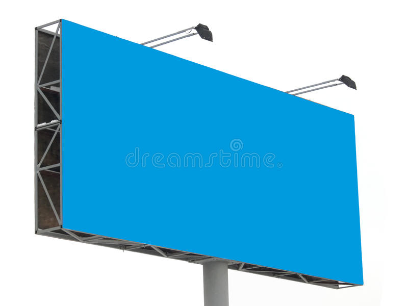 Stand advertising stock photo