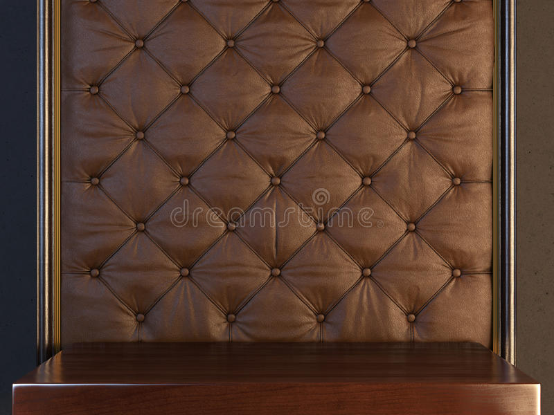 Download Stand Against A Brown Quilted Leather Stock Illustration - Image: 26471277