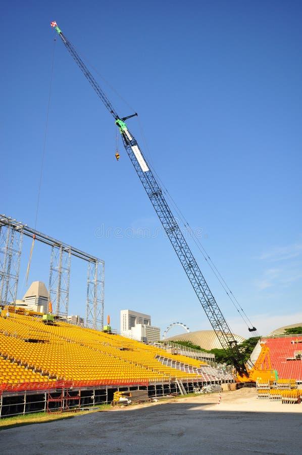 Stand-Bau bei Padang, Singapur stockbild