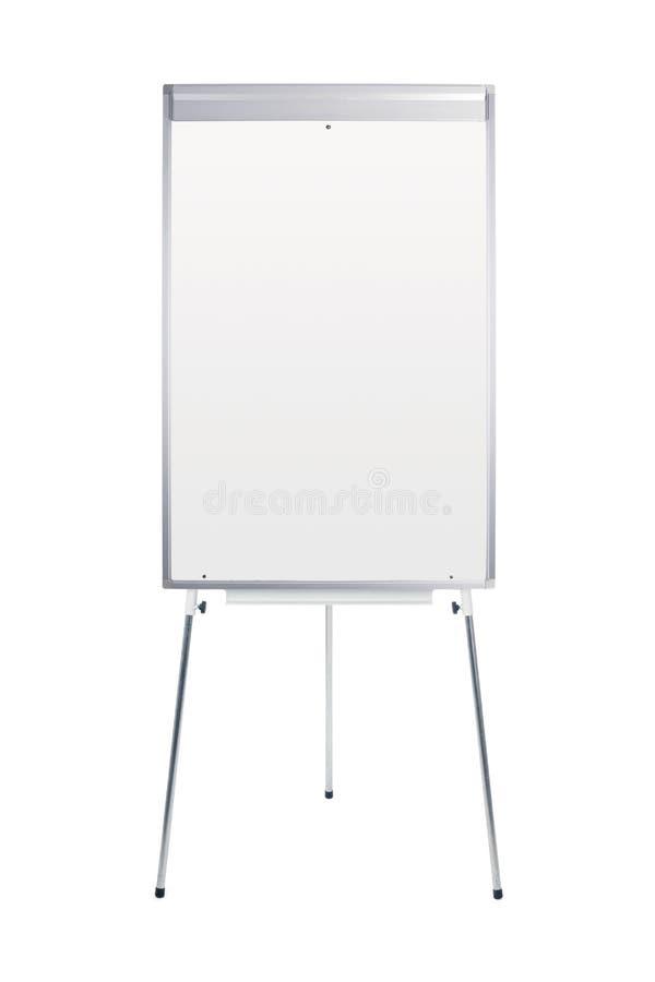Stand blanc de whiteboard photographie stock libre de droits