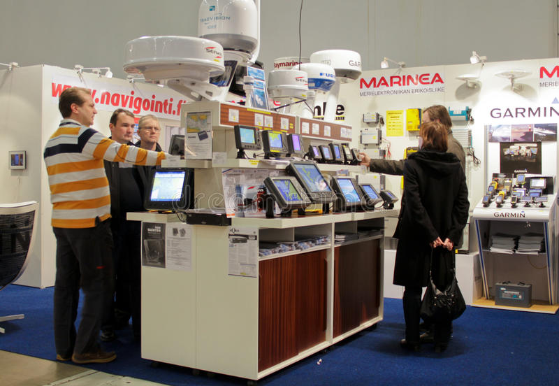 Stand at Boat Show stock image