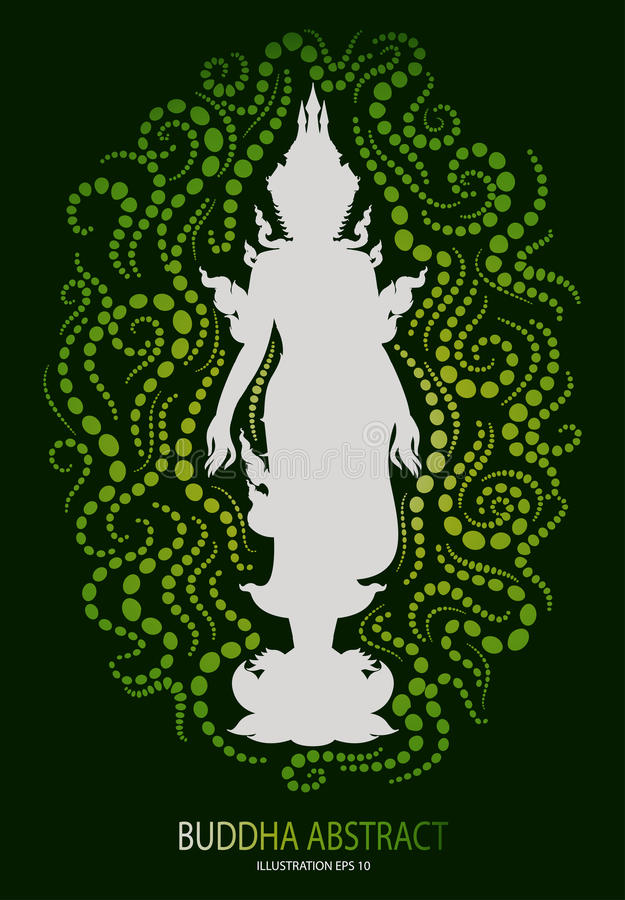 Stand buddha abstract tradition design. Vector stock illustration