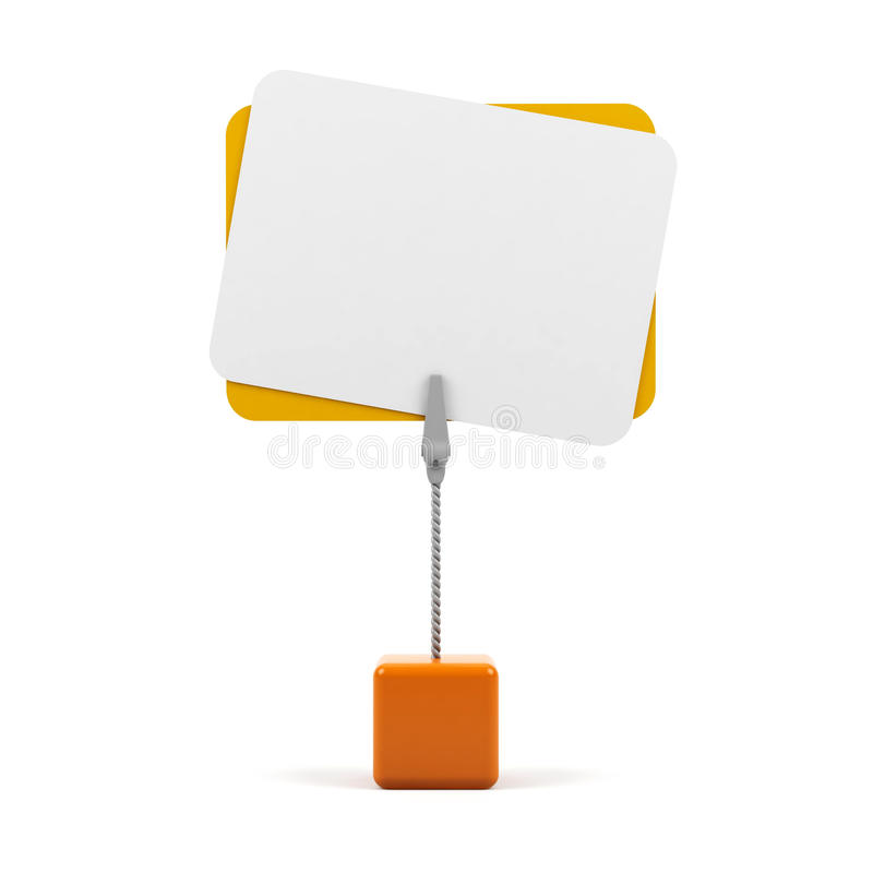 Download Stand with card stock illustration. Image of advert, commercial - 14865286