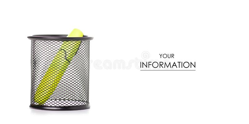 Stand for colour markers pattern. On a white background. Isolation stock photo