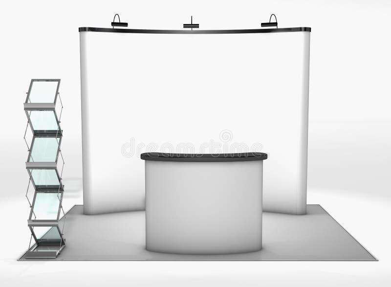 Stand commercial d'exposition illustration de vecteur