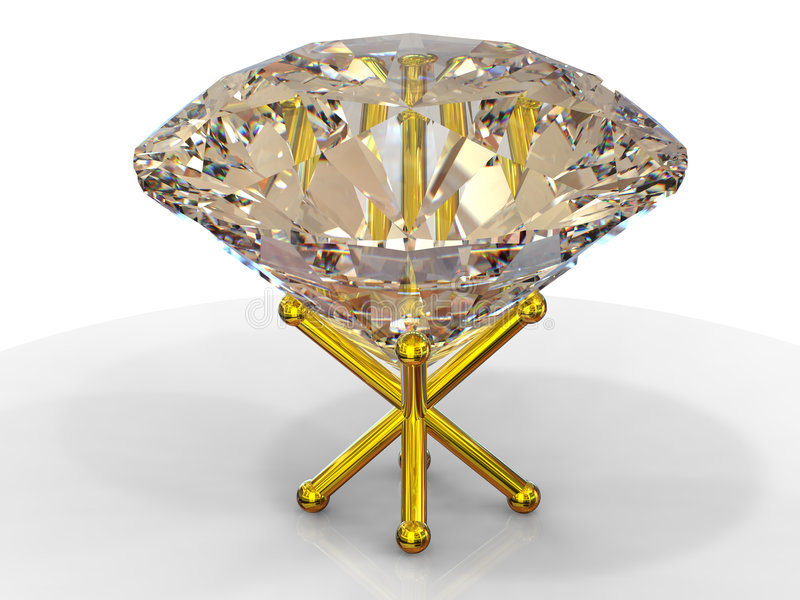 stand d'or de diamant illustration libre de droits
