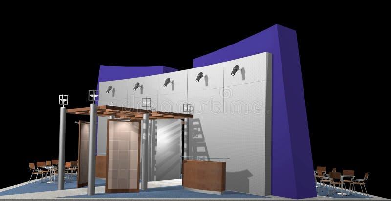 stand d'exposition illustration de vecteur