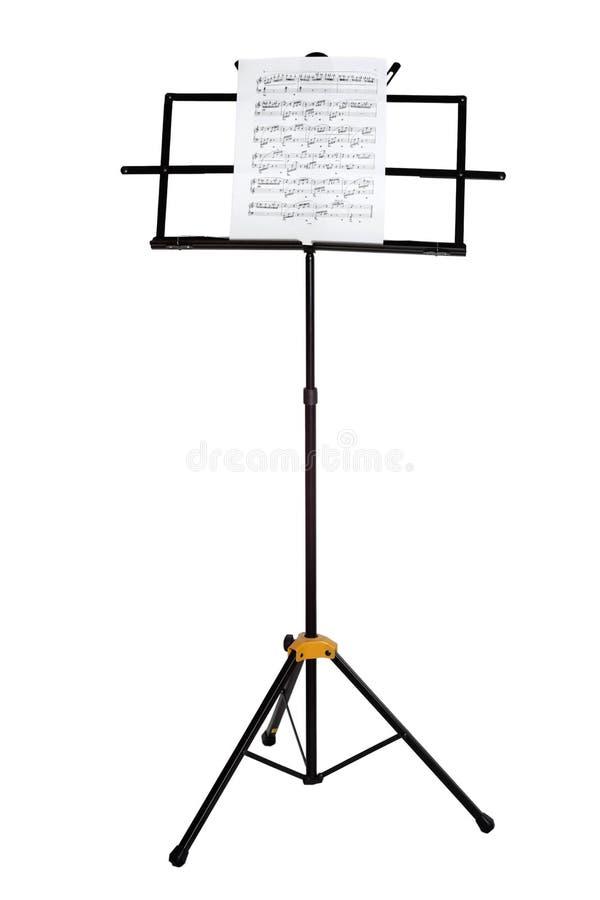 stand d'isolement de piano de notes de musique photographie stock