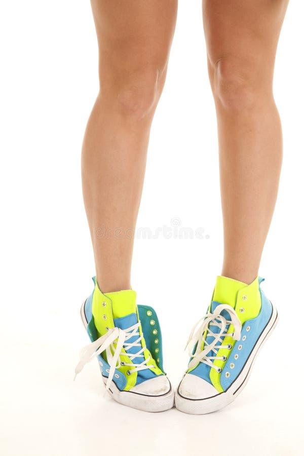 Stand de chaussures sur tep image libre de droits