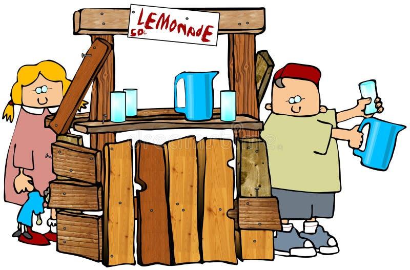 Stand de citronnade illustration libre de droits