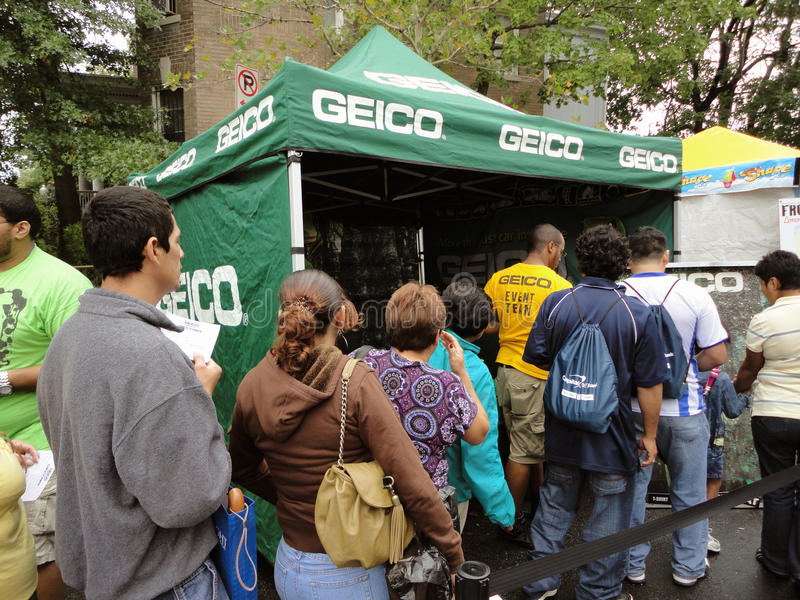 Stand de concession de Geico photo stock