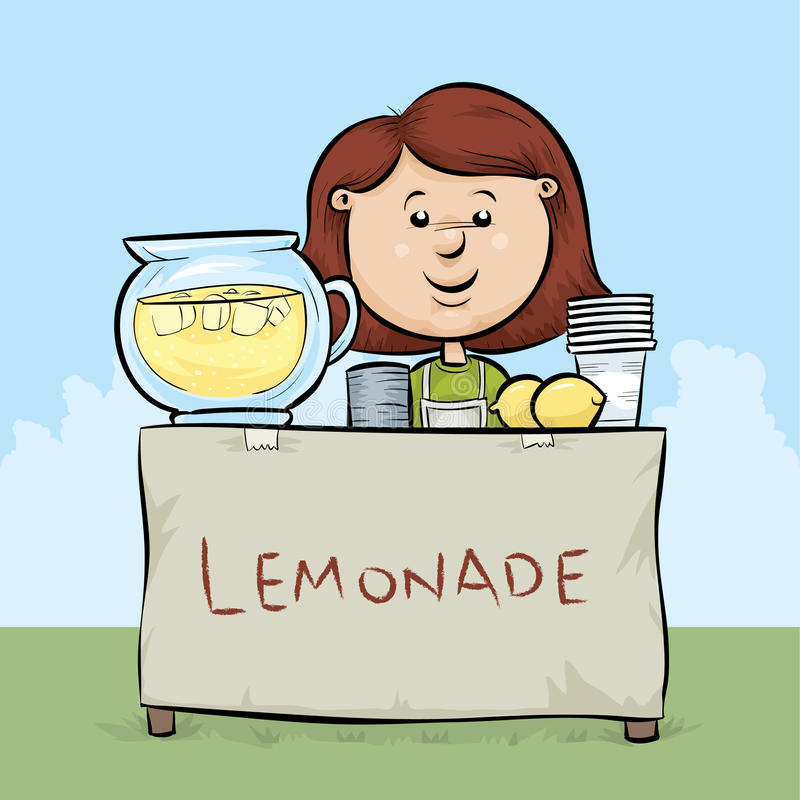 Stand de limonade illustration libre de droits