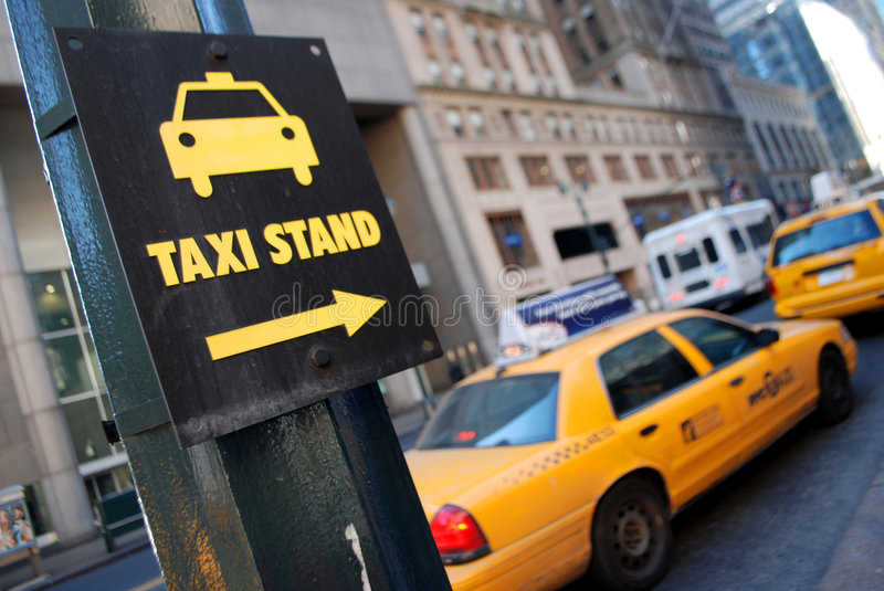 Stand de taxi de New York image stock