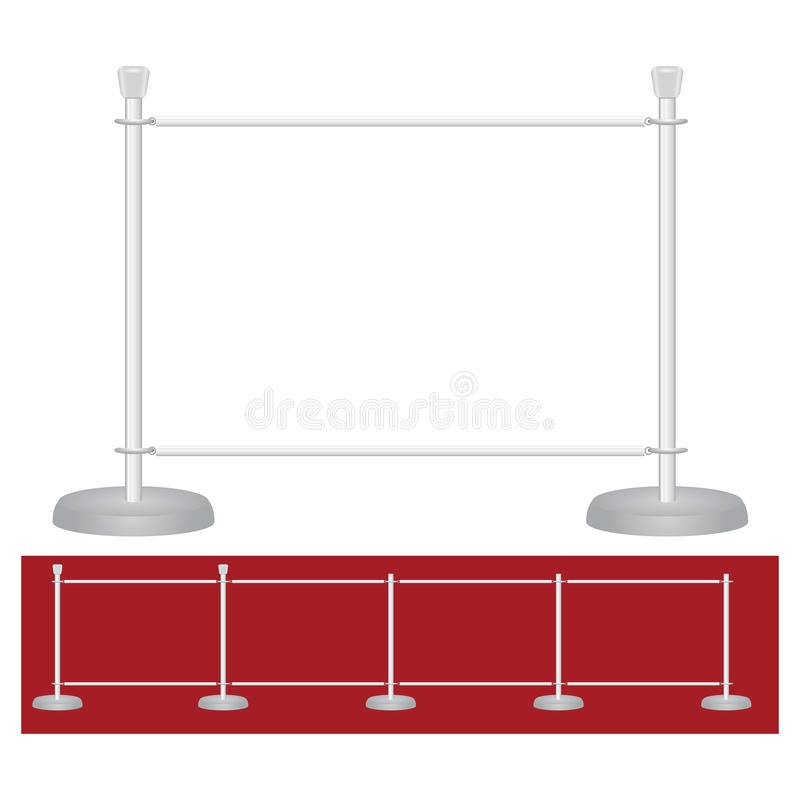 Stand exhibition barrier stock illustration