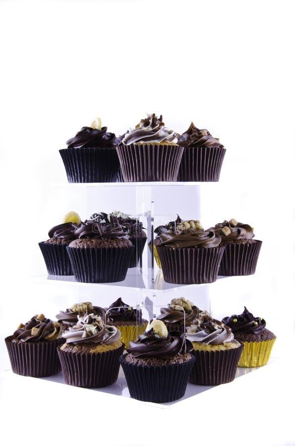 stand för cakeschokladkopp arkivbild