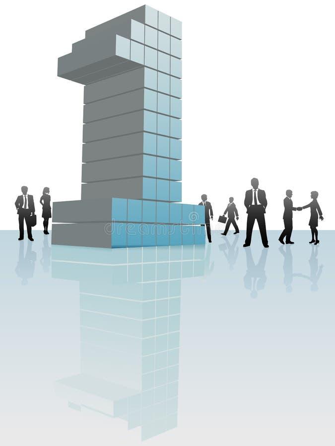 stand för folk för affärsföretagsnummer ett royaltyfri illustrationer