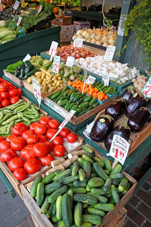 Stand för Producemarknad arkivbild
