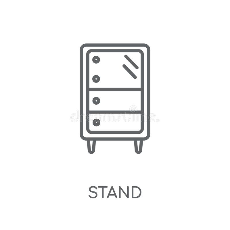 Stand linear icon. Modern outline Stand logo concept on white ba royalty free illustration