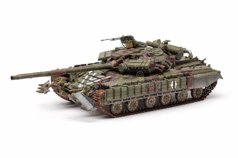 Stand model of a military battle tank stock photography