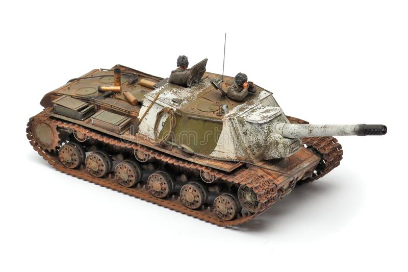 Stand model of a military battle tank royalty free stock photo
