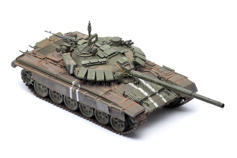 Stand model of a military battle tank royalty free stock image