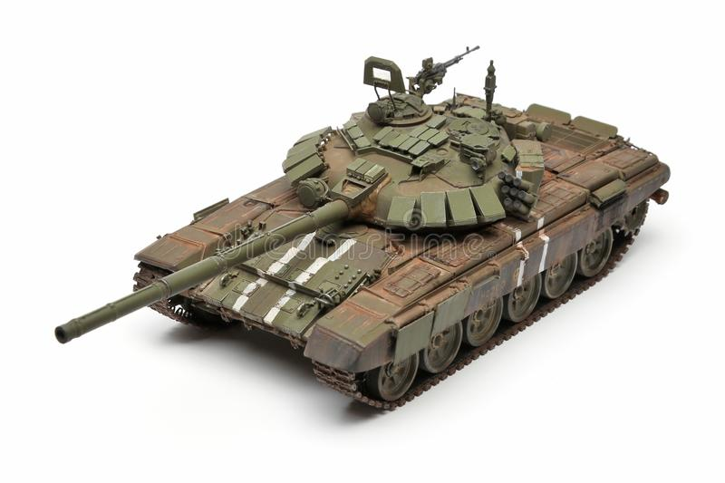 Stand model of a military battle tank stock images
