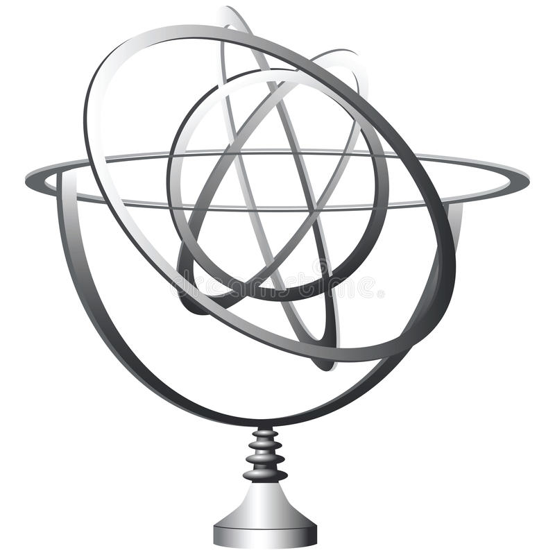 Download Stand orbits stock vector. Image of circle, maquette - 26136874