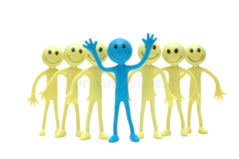 Download Stand Out From The Crowd Royalty Free Stock Images - Image: 1414599