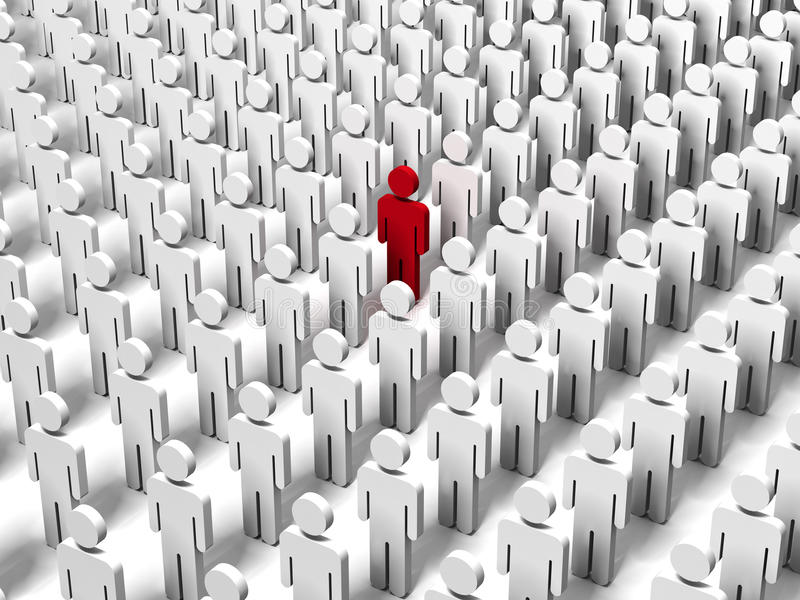 Download Stand Out From The Crowd Stock Image - Image: 19043051
