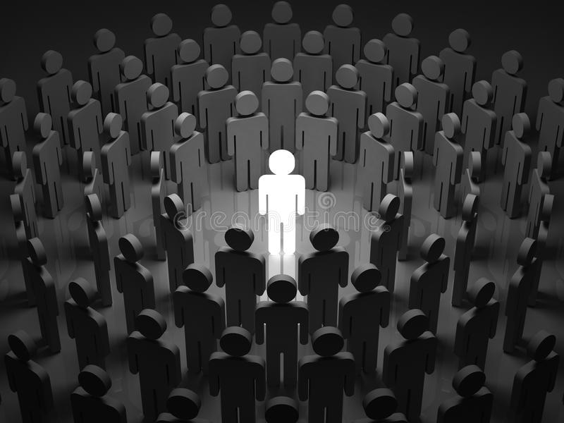 Stand Out From The Crowd stock illustration
