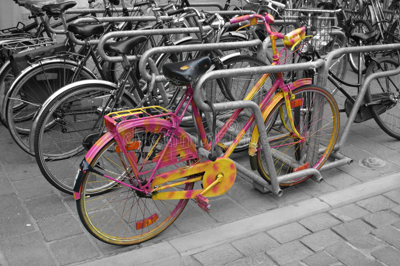 Download Stand out in a Crowd stock image. Image of black, bike - 204569
