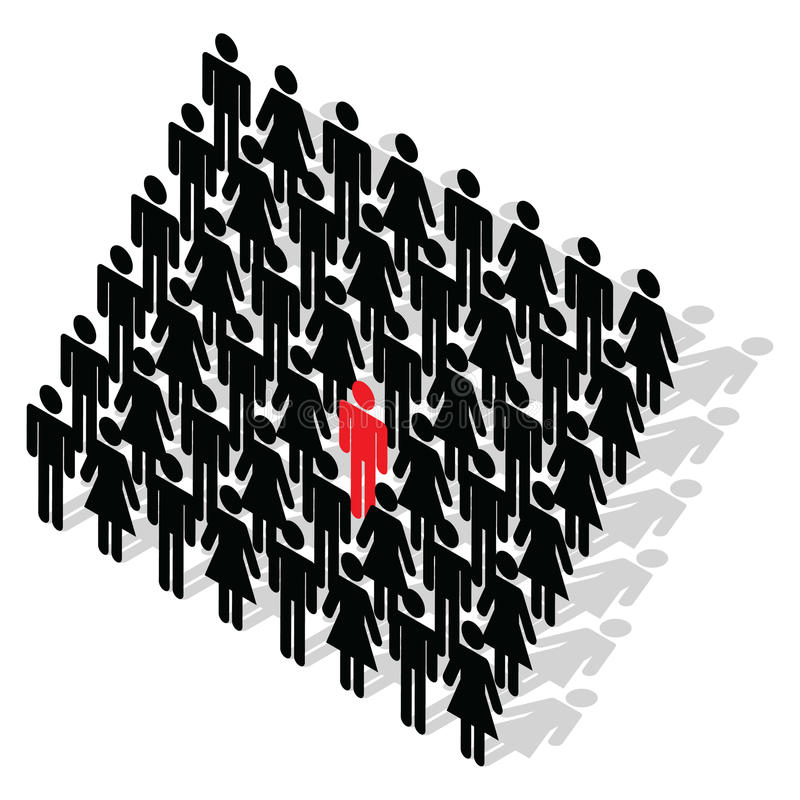 Download Stand out from the crowd stock illustration. Image of worker - 9712848