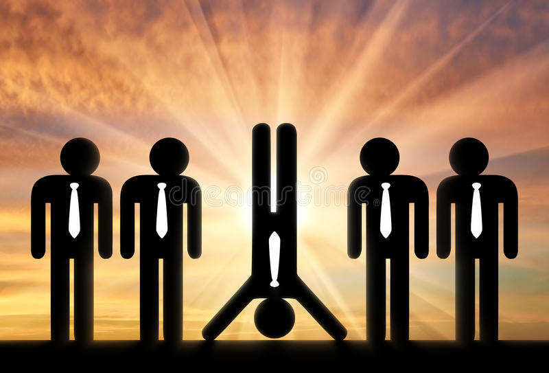 Stand out from the crowd concept royalty free stock image