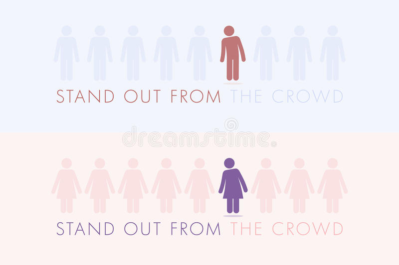 Stand out from the crowd. royalty free illustration