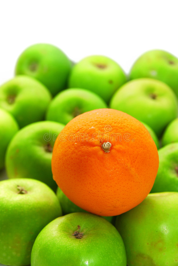 Free Stand Out From Crowd With Orange And Apples Royalty Free Stock Images - 5799459