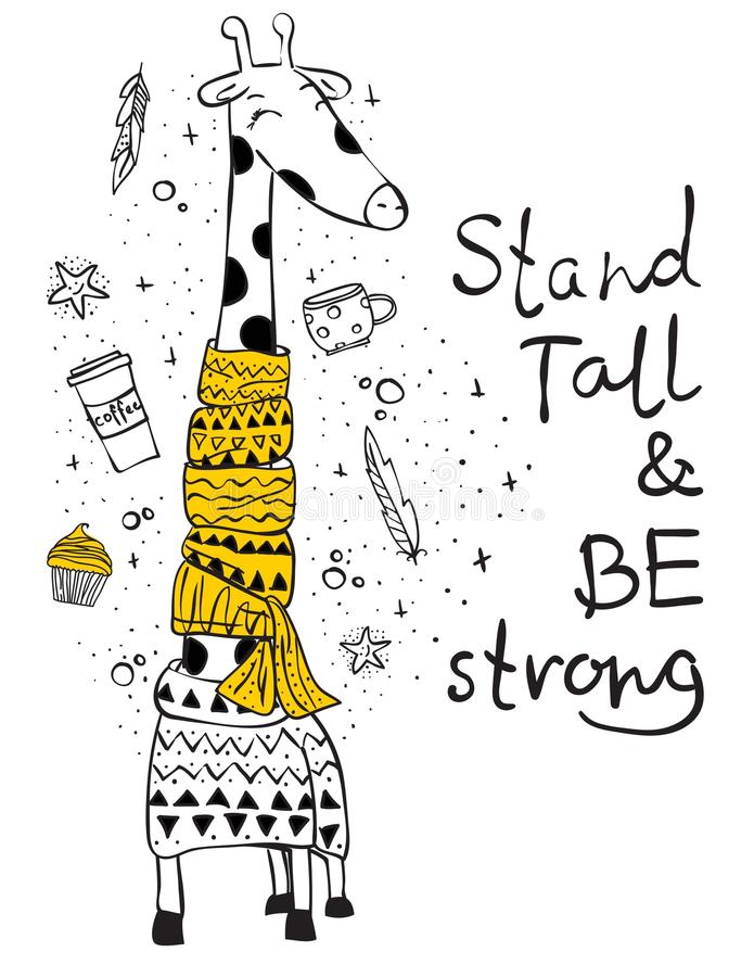 Stand tall and be strong vector illustration