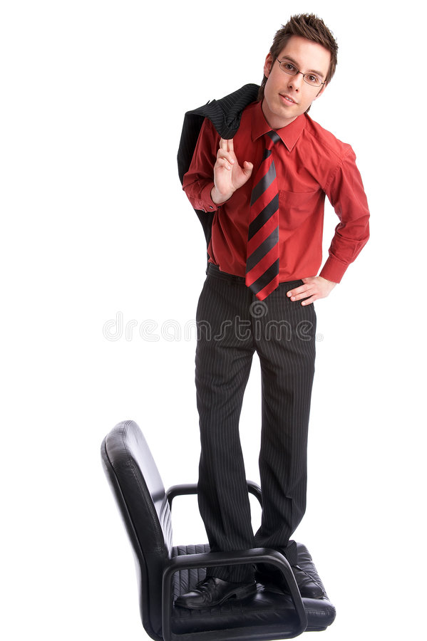 Download Stand up stock photo. Image of suit, manager, success, chair - 713728