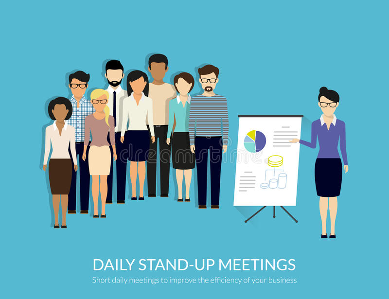 Stand-up meeting stock illustration