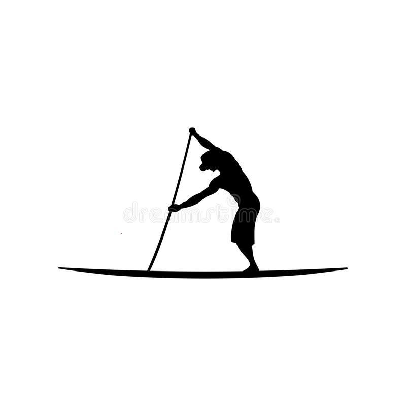 Free Stand Up Paddle Silhouette Vector Illustration Stock Photography - 130875702