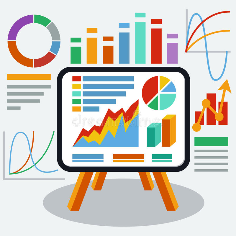 Free Stand With Charts And Parameters Stock Photography - 46387822