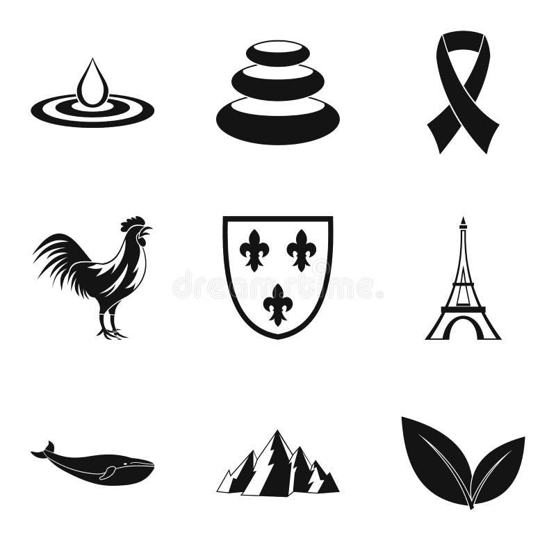 Download Standaard Geplaatste Pictogrammen, Eenvoudige Stijl Vector Illustratie - Illustratie bestaande uit luxe, bescherming: 107707368