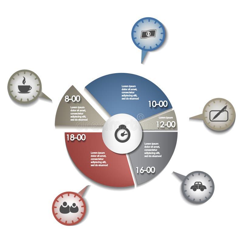 Standard bild - vektoruppsättning av cirkelbeståndsdelar för infographics royaltyfri illustrationer