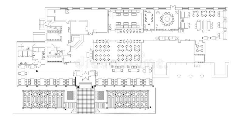 Download Standard Cafe Furniture Symbols On Floor Plans Stock Vector    Illustration Of Basic, Architectural