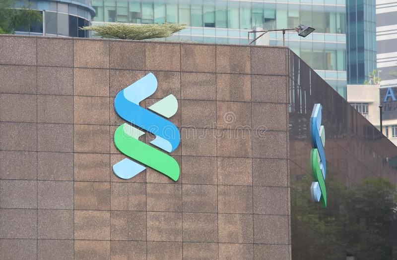 Standard Chartered bank. Is a British multinational bank headquartered in London stock image