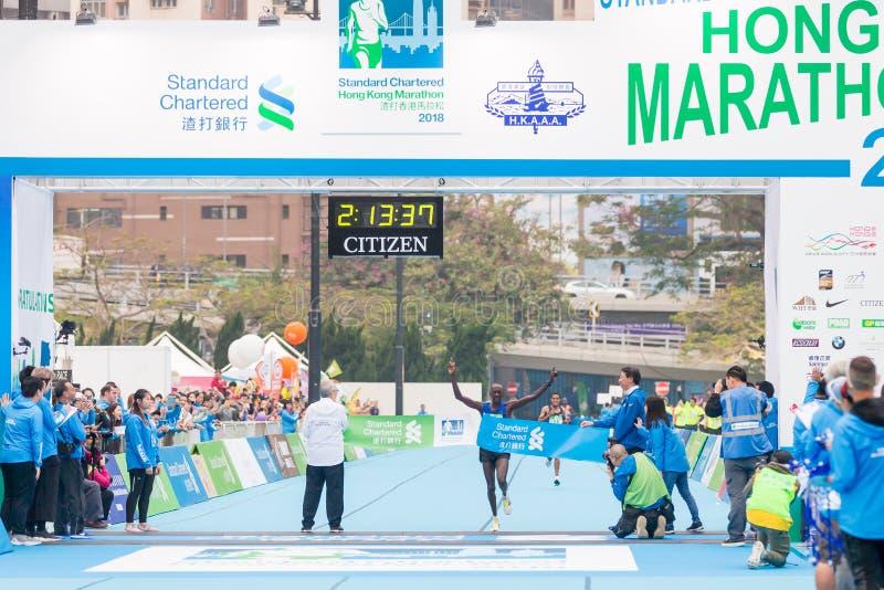 Standard Chartered Hong Kong Marathon 2018 lizenzfreies stockbild