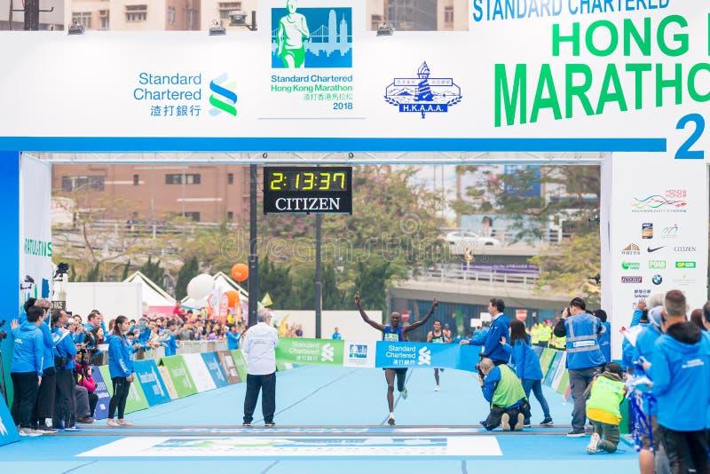 Standard Chartered Hong Kong Marathon 2018 fotografía de archivo