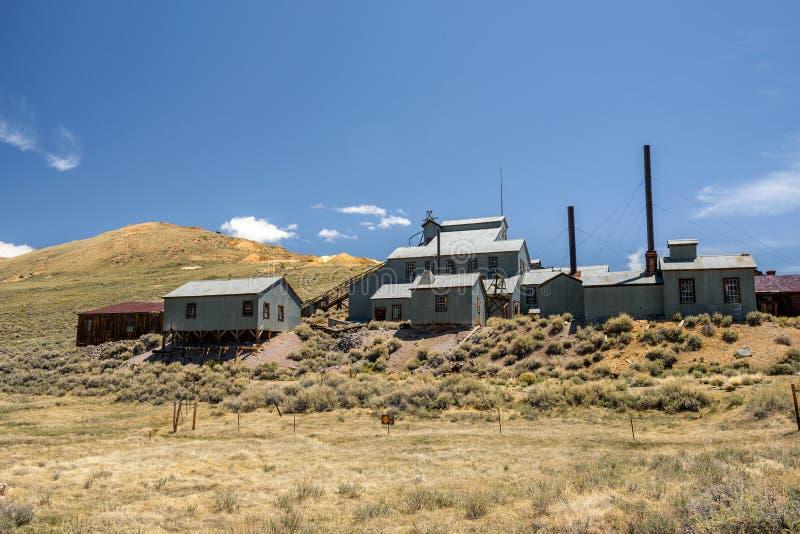Standard Consolidated Mining Company在Bodie鬼魂t的捣碎机 库存图片