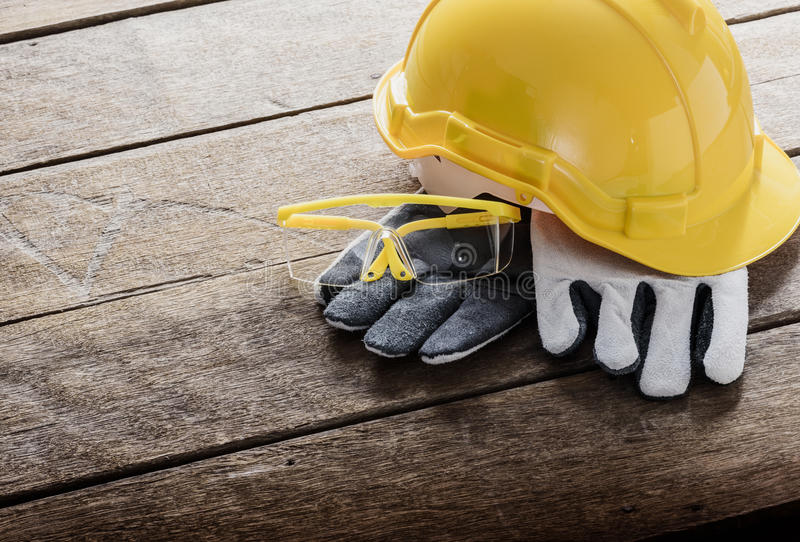 Standard construction safety equipment royalty free stock photos