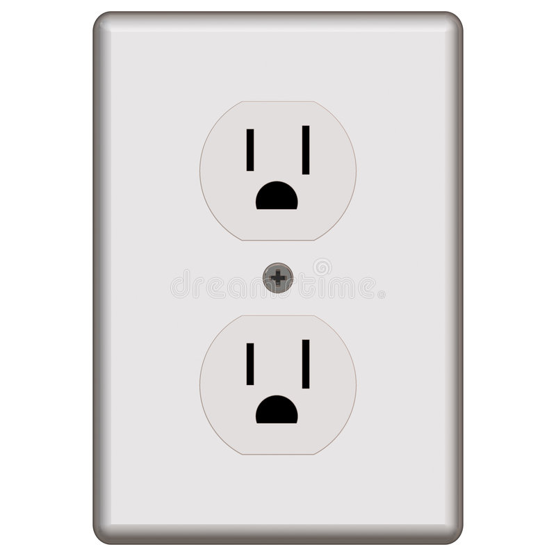 Standard Electrical Outlet stock illustration. Illustration of item ...