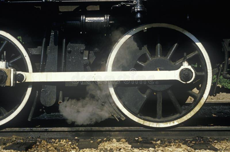 A standard gauge steam engine in Eureka Springs, Arkansas stock images